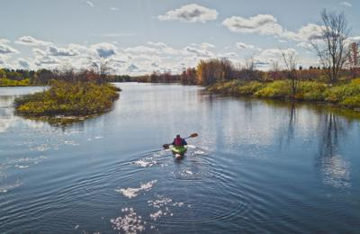Peaceful paddling on the Raquette River