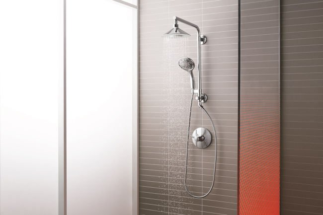 Want an instant new-bathroom feel? Update your shower head