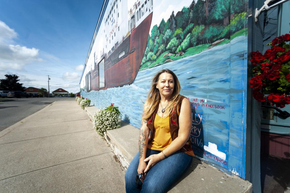St. Lawrence River area mural artist goes with the artistic flow