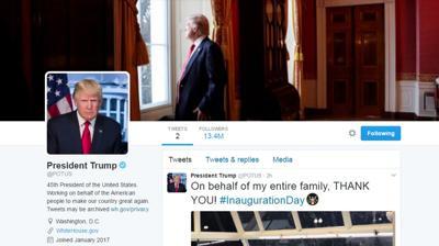 Potus Twitter Account Shifts To Trump News Nny360 Com