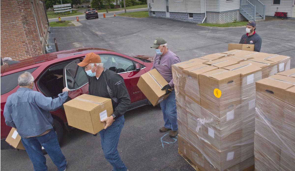 Food distribution was team effort