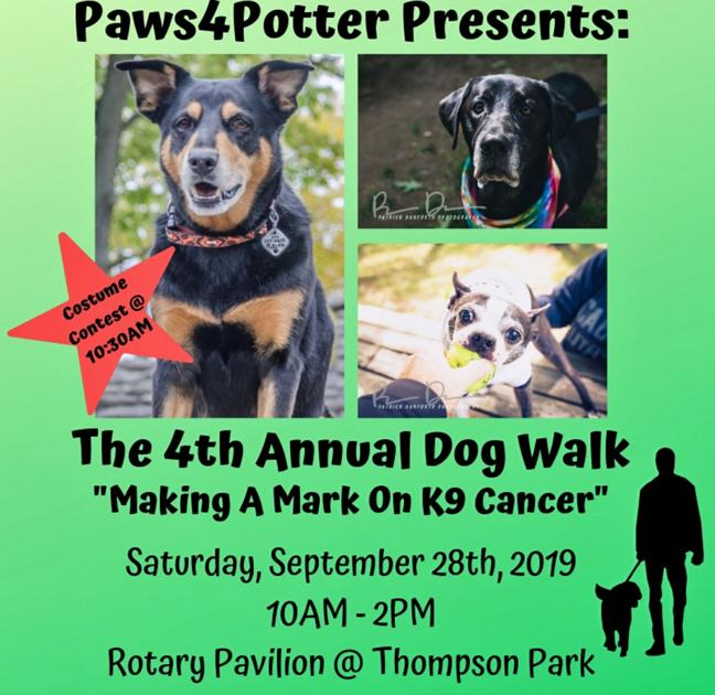 Annual Making a Mark on K9 Cancer dog walk is Sept  28