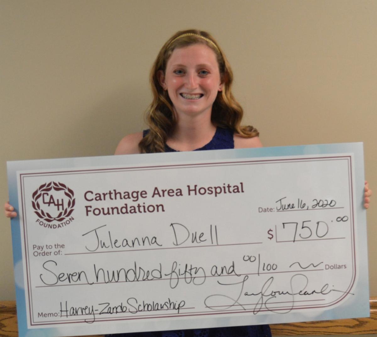Carthage hospital foundation awards scholarships to 4 seniors