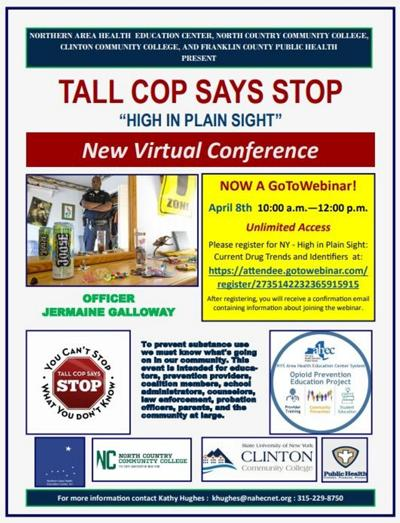 Tall Cop webinar topic is drug abuse