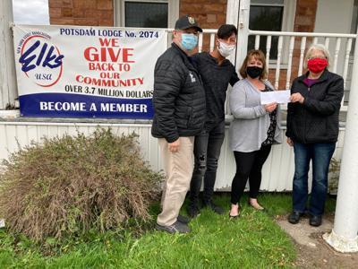 Potsdam Holiday Fund receives $2,000 Elks Foundation grant