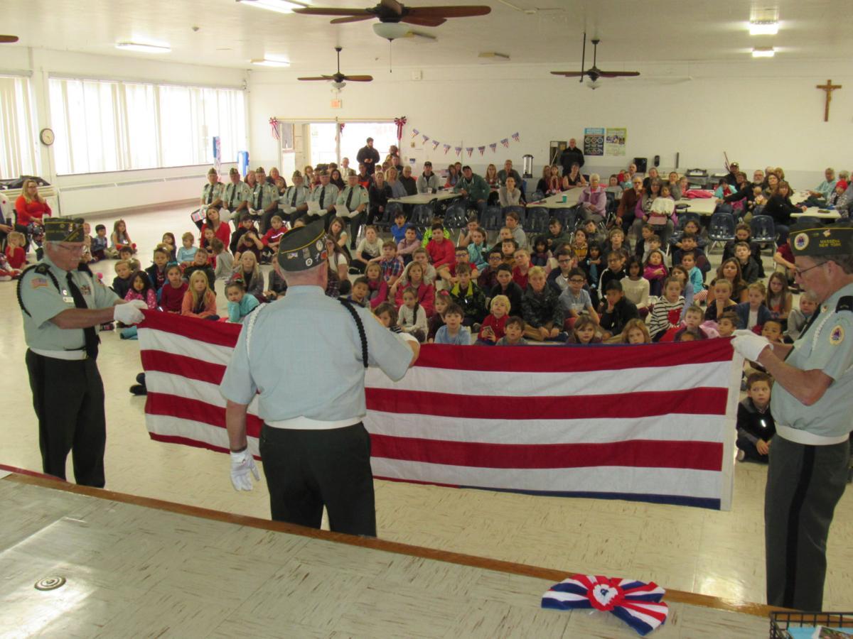 Trinity Catholic students recognize military veterans