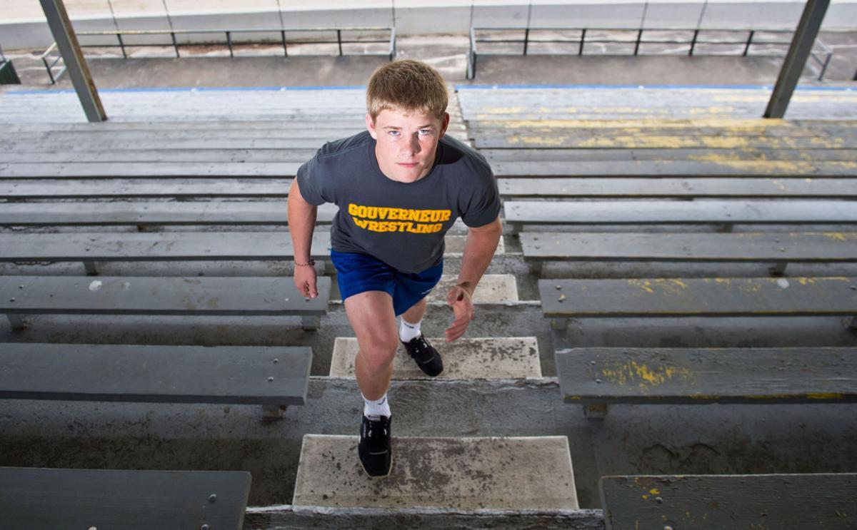 Carter Baer Gouverneur Sophomore 138-pound champ