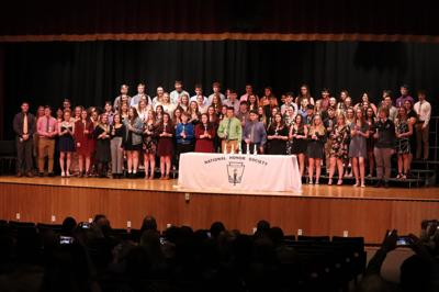 Fulton's G. Ray Bodley High School inducts over 50 into National Honor Society