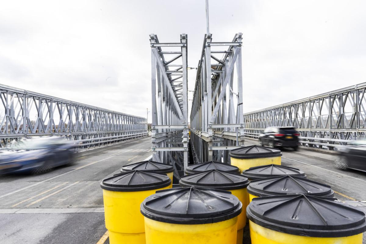 Officials expect span to be completed next month