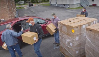 Food distribution set in Massena