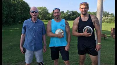 Three generations of OFA discus throwers enjoy chance to compete together at meet