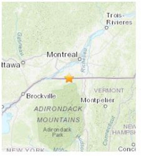 NNY feels effects of quake in Quebec