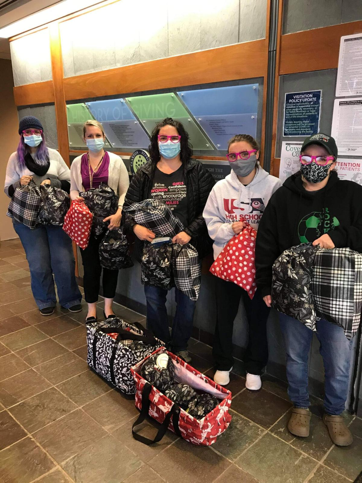 Group sends comfort bags to patients at cancer centers