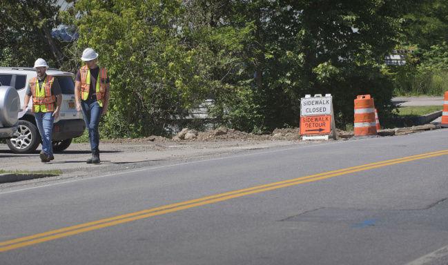 Gas line break closes streets