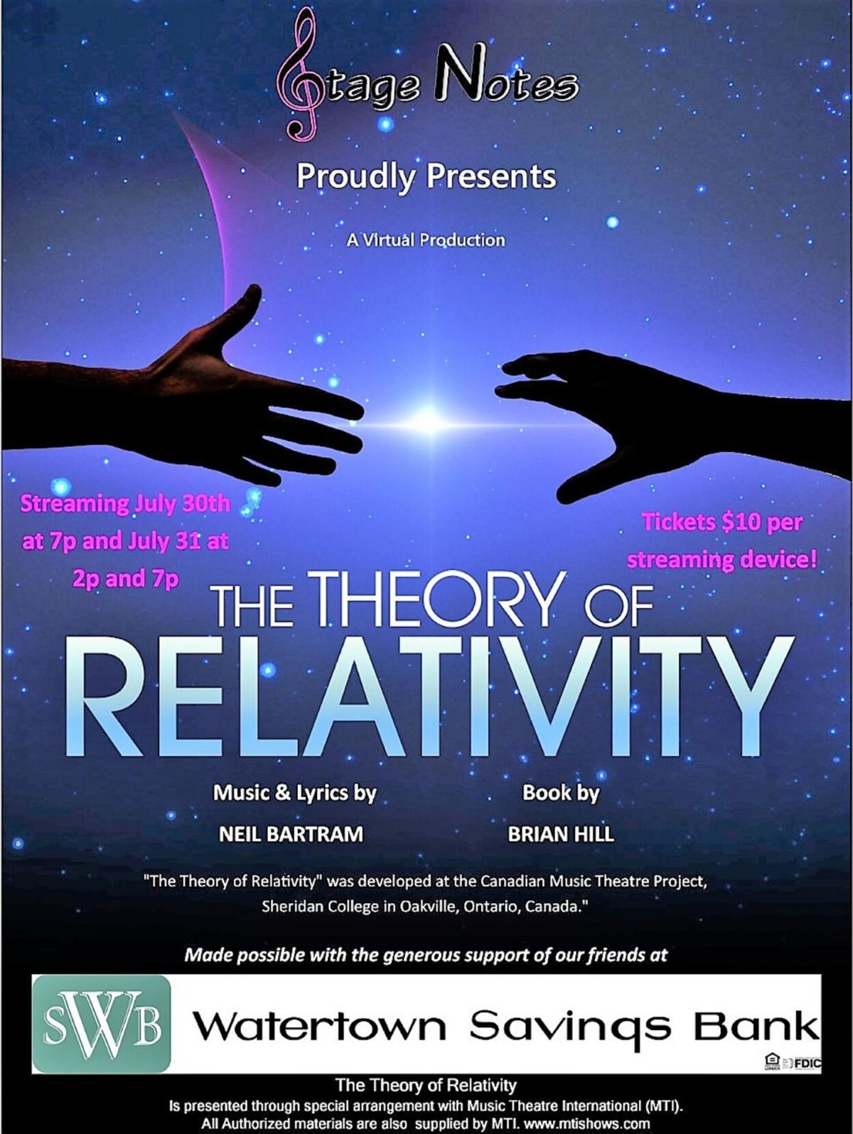 Stage Notes to present 'Theory of Relativity'