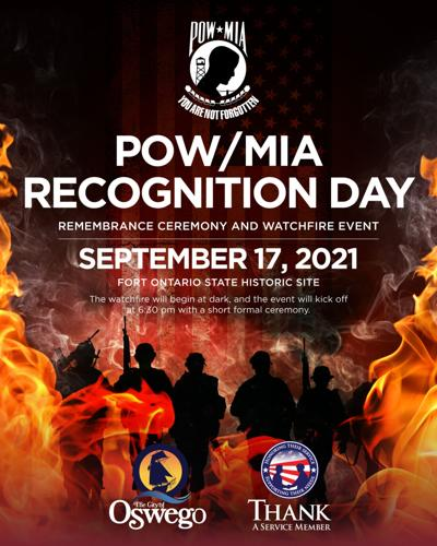POW/MIA Recognition Day Watchfire Event at Fort Ontario