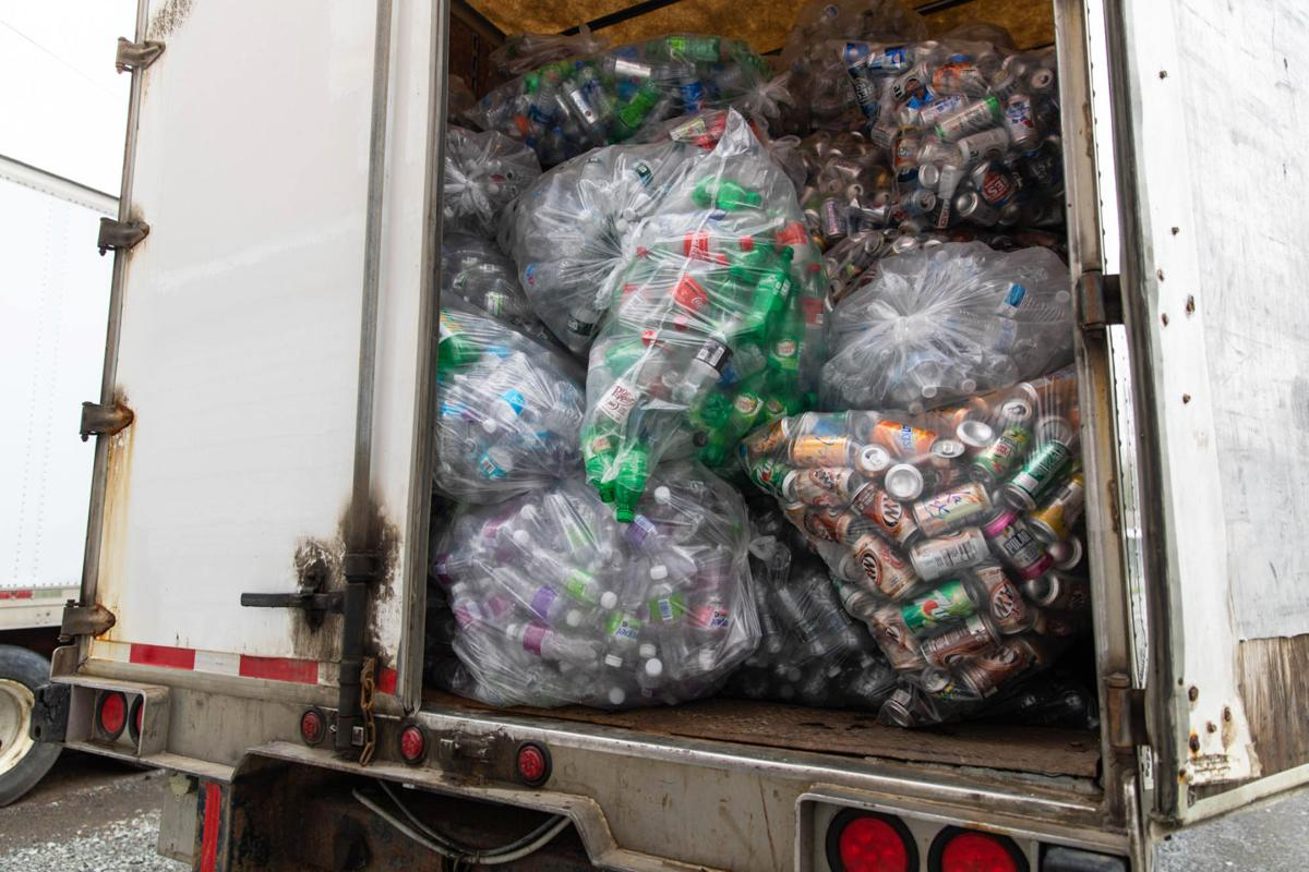 Bins filling up at container redemption centers