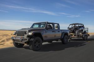 High-speed Jeep Gladiator Mojave an off-road conqueror.