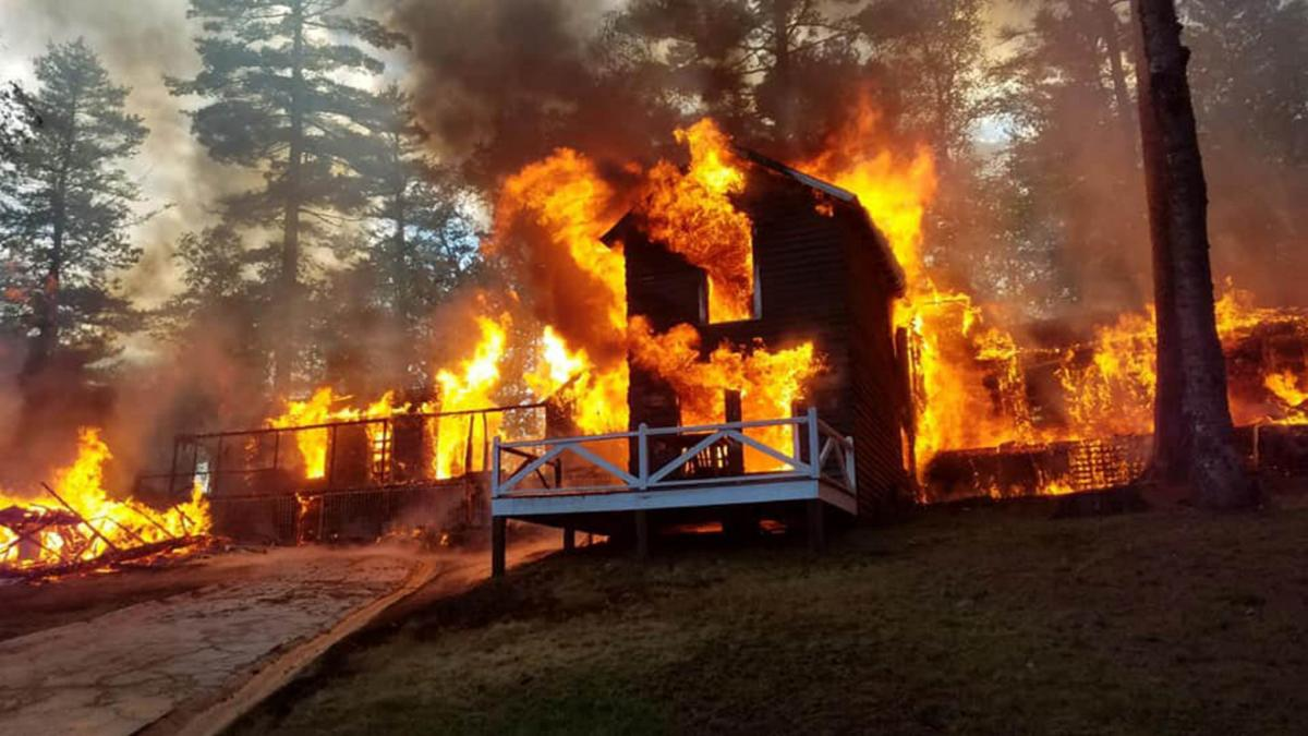 Weekend Fire Claims Four White Pine Camp Buildings Top Stories Nny360 Com