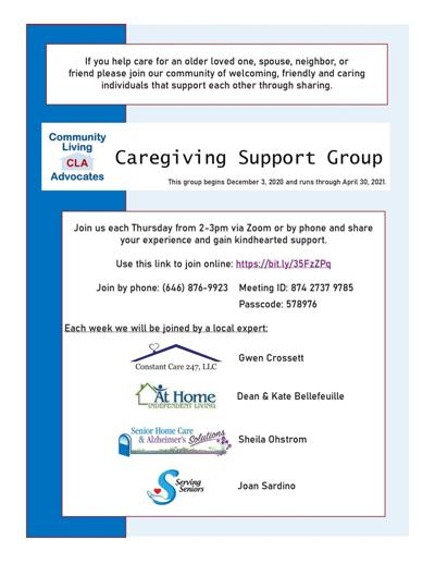 New CNY caregiving support group