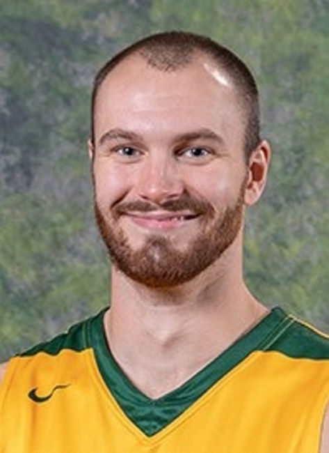 Three Oswego State men's basketball players on NABC Honors Court