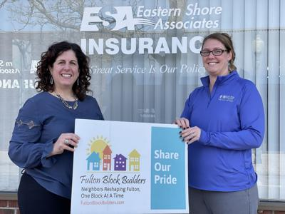 Eastern Shore Associates presents Fulton Block Builders with check for 2021 program