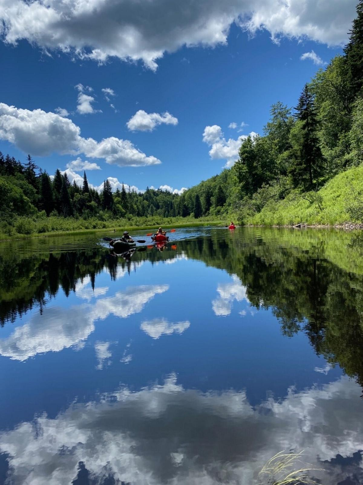 Team finds new adventure packrafting New York's old growth forest