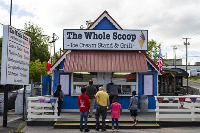 Lining up for some scoops