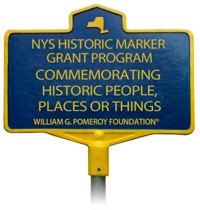 Pomeroy Foundation roadside marker dedication