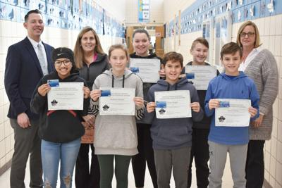 OMS honors students for having self-control as a character strength