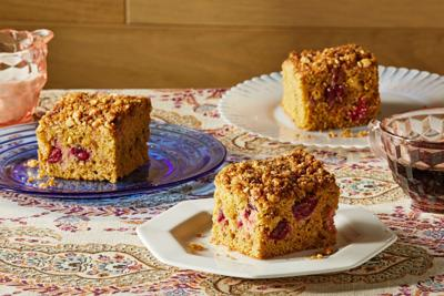 Cozy, comforting cranberry-orange snacking cake begs to be shared