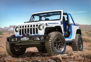 All-electric Jeep coming in 2023; Dodge plans to unveil new plug-in hybrid for next year's sales.