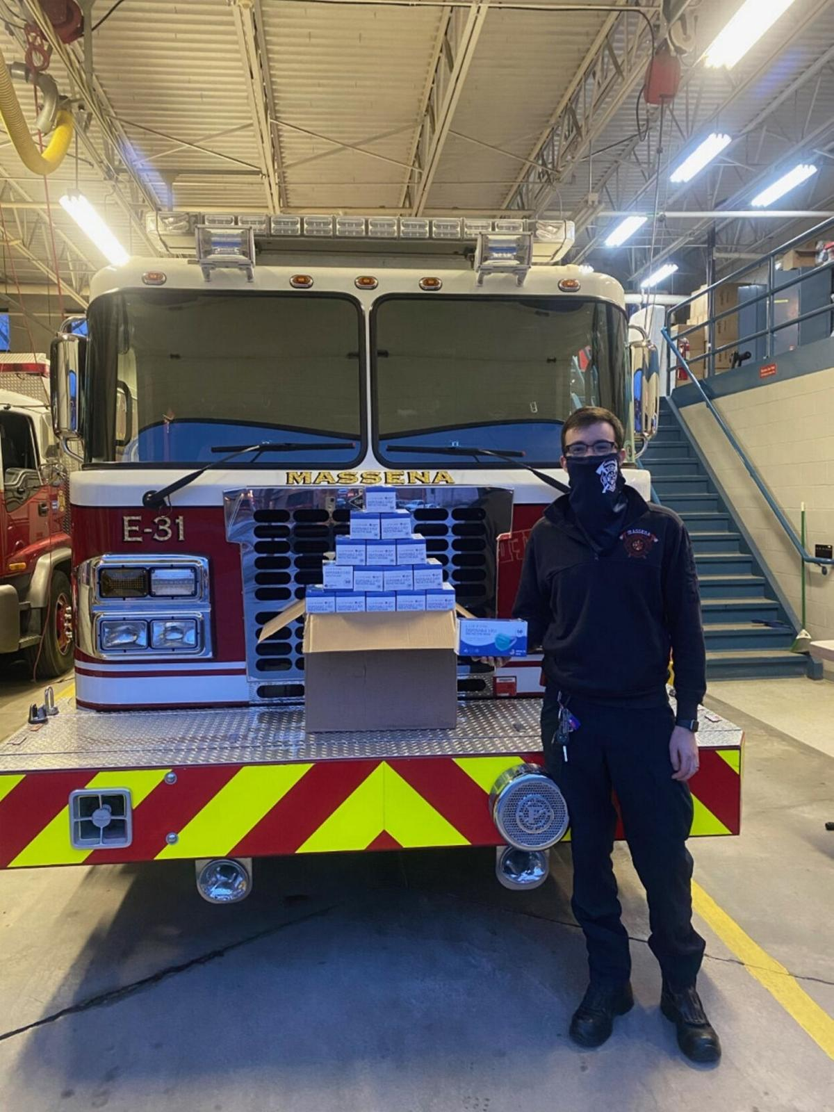 Masks donated to firefighters from Ford