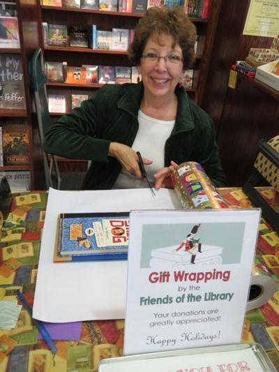 Friends of the Oswego Library will wrap holiday gifts