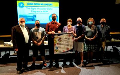 NYSSBA presents APW with Champions of Change for Kids Award