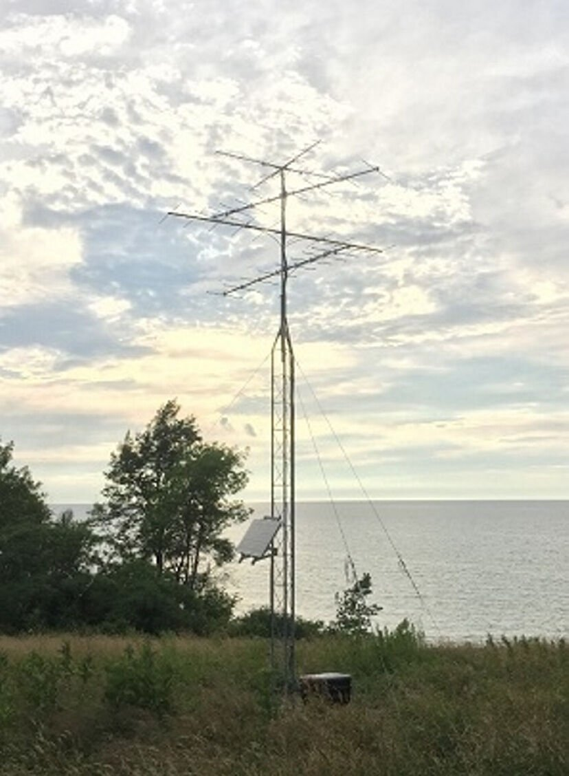 Bird tracking receivers set up in north country