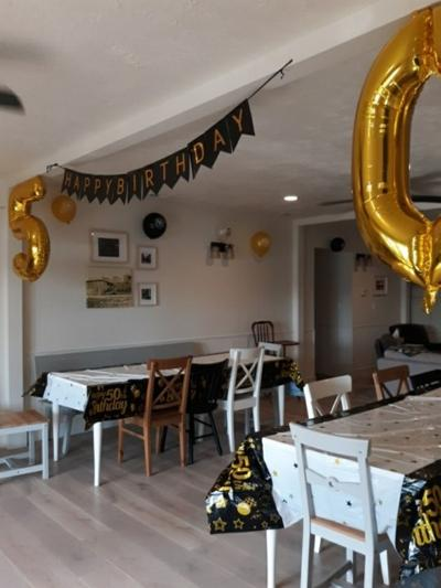 Lovina celebrates milestone birthday with family