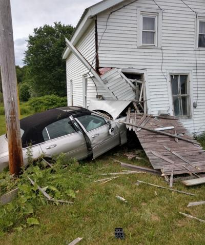 Car hits house, silo catches fire in busy day for rescue crews