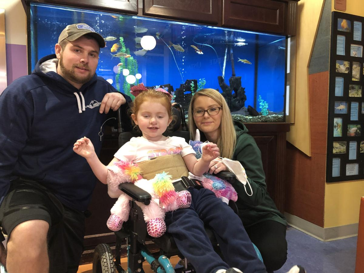 Sophia's brave struggle Girl, 3, fights for vision after seizures