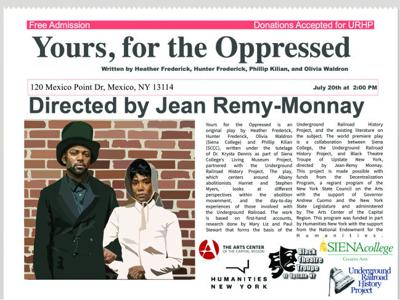 Yours, For the Oppressed to be performed at Mexico Point Park