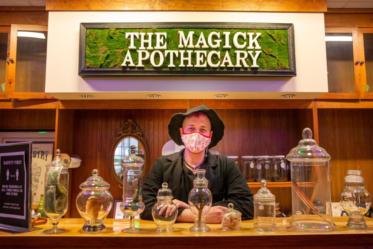 Doing his Magick