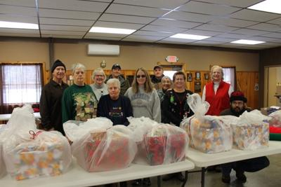 Parishville residents donate food boxes to families
