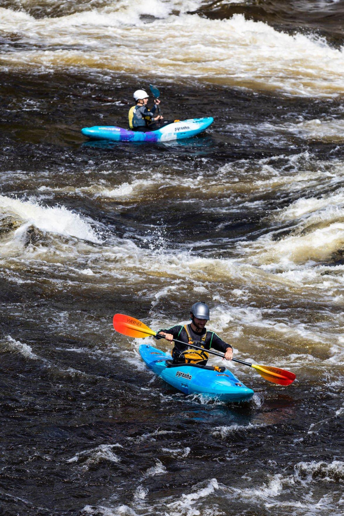 Riding the kayaking wave