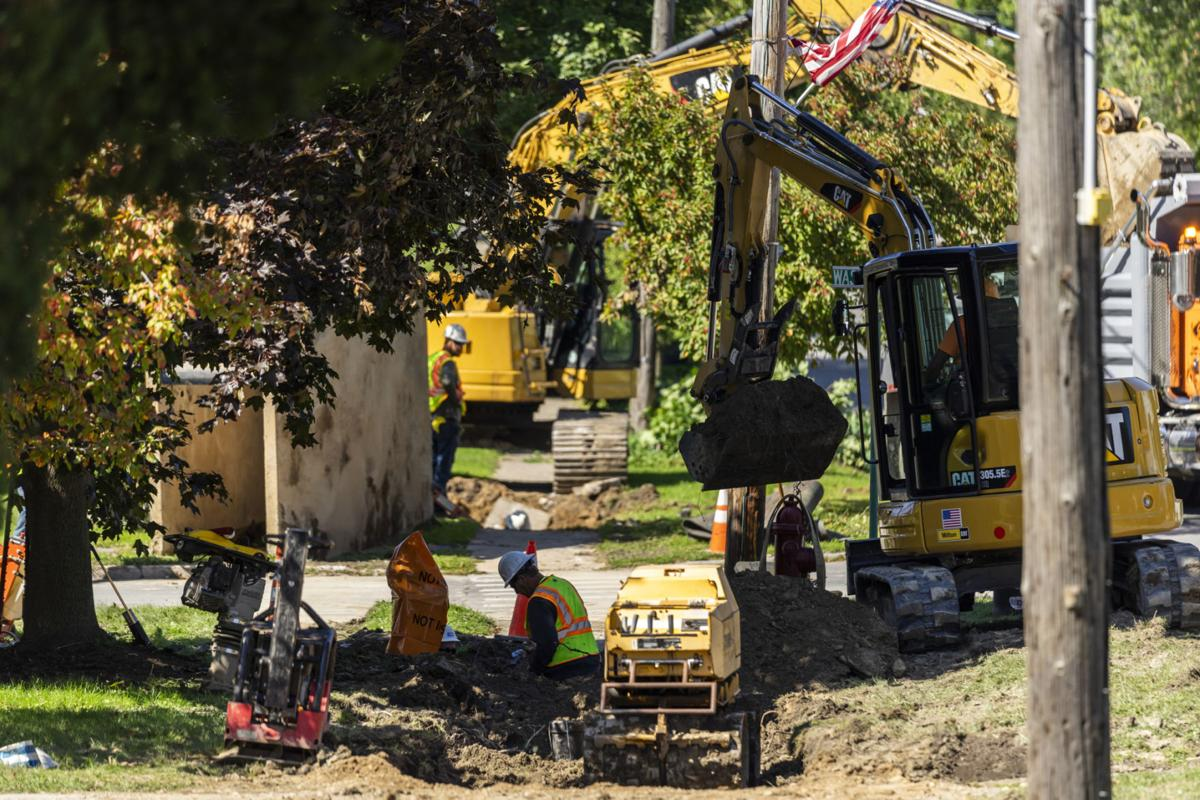 Alex Bay water main work underway