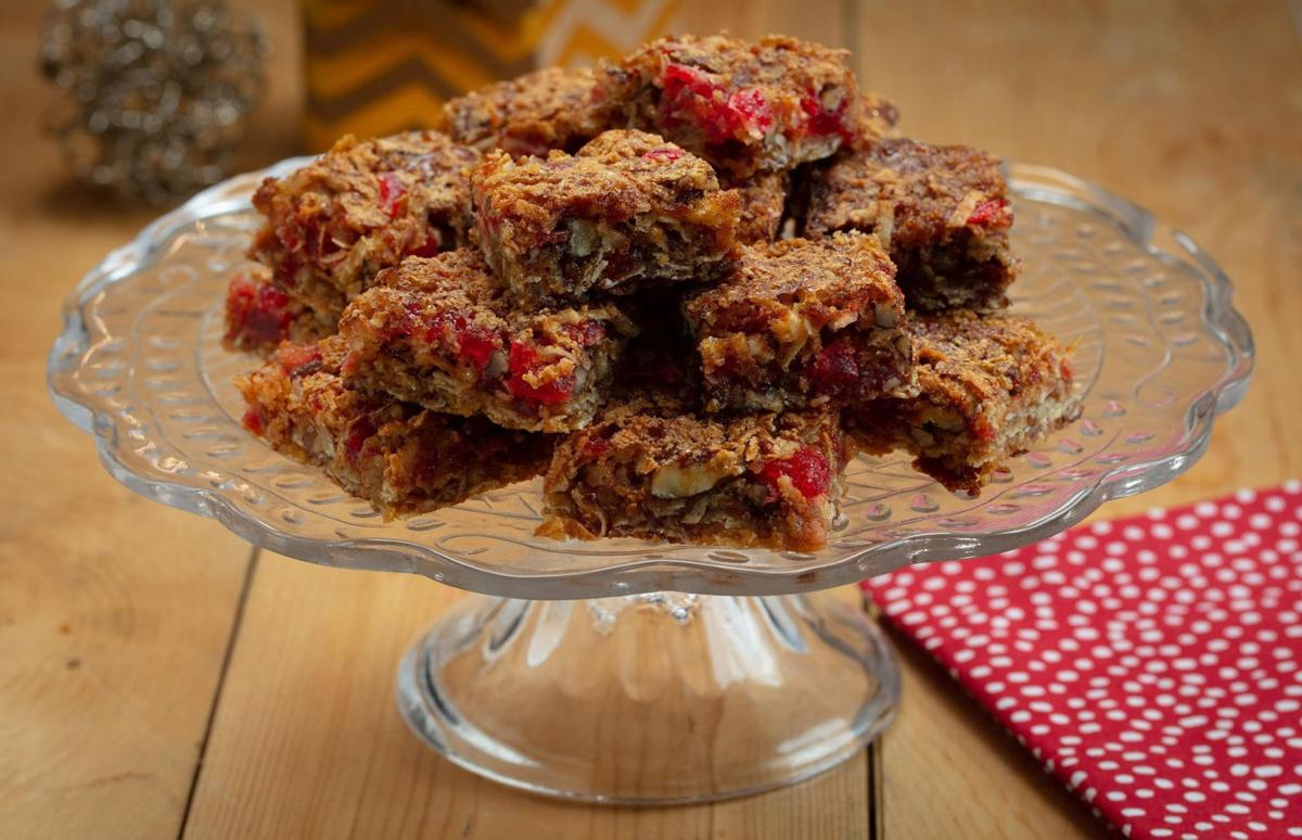 Connecting with cookies Marking a holiday tradition with cherry bars, peppermint mocha brownies