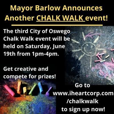 Third city of Oswego Chalk Walk event on June 19