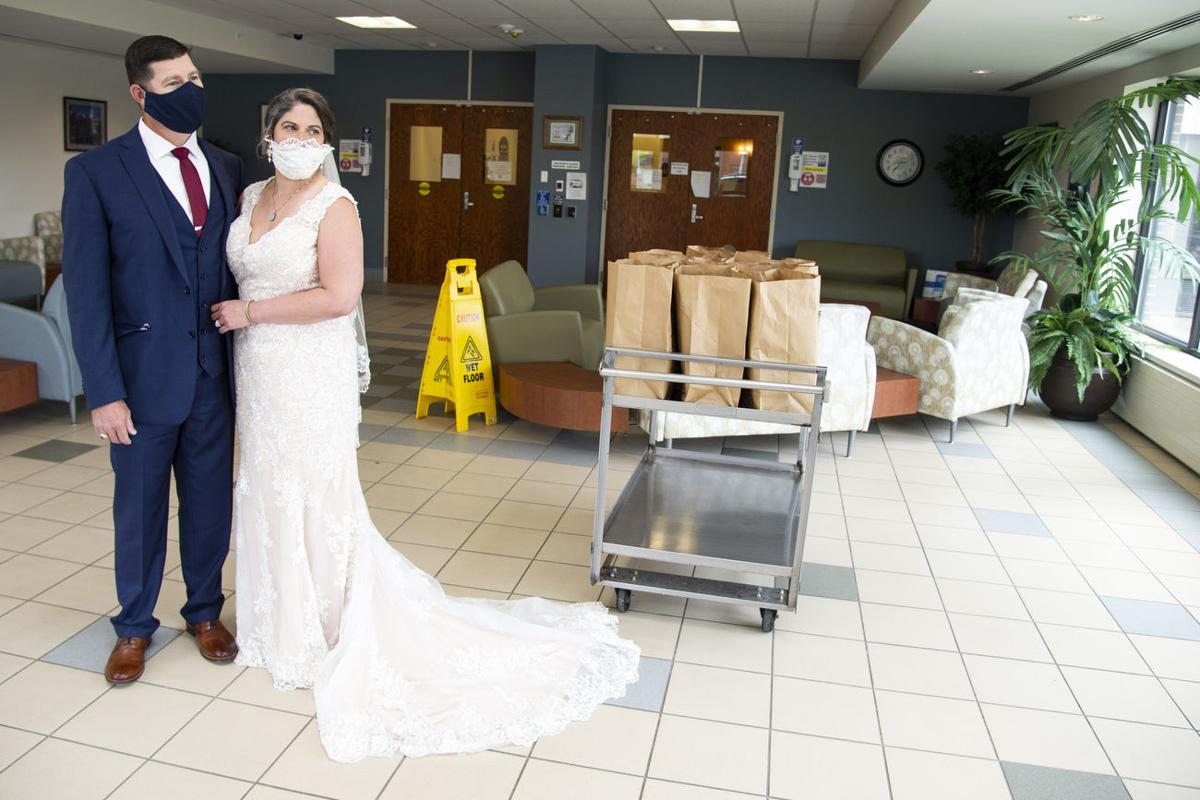 Samaritan staffer, Army vet wed, donate their reception food to healthcare workers