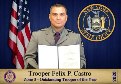 Dexter's Castro named Zone 3 Trooper of the Year