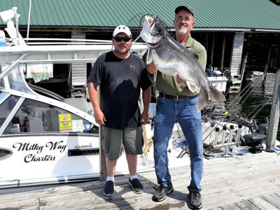 Near-record lake trout catch tilts scales in Henderson Harbor