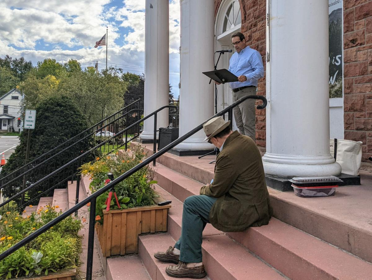 Banned books get public reading outside Potsdam Public Library
